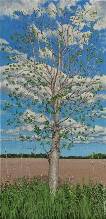 Discover Original Art by Patricia Freeman | Ode to a Poem About Trees acrylic painting | Art for Sale Online at UGallery
