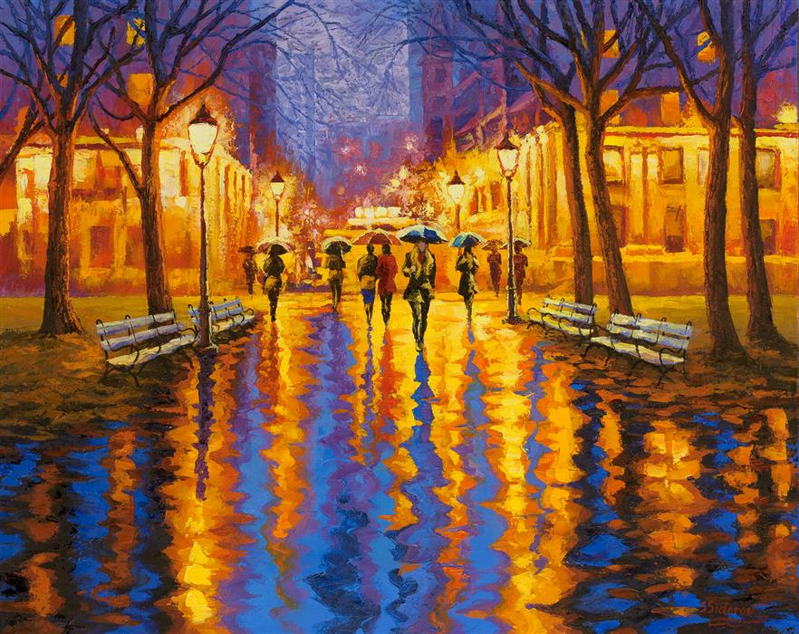 Discover Original Art by Stanislav Sidorov | Golden Reflection oil painting | Art for Sale Online at UGallery