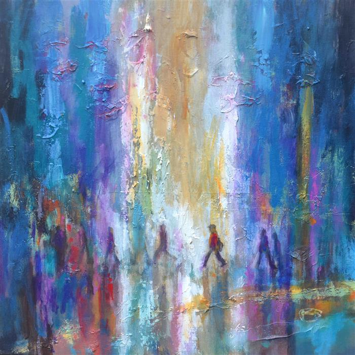Discover Original Art by Kip Decker | Crossing Main acrylic painting | Art for Sale Online at UGallery