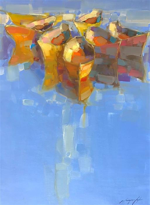 Discover Original Art by Vahe Yeremyan | Boats oil painting | Art for Sale Online at UGallery