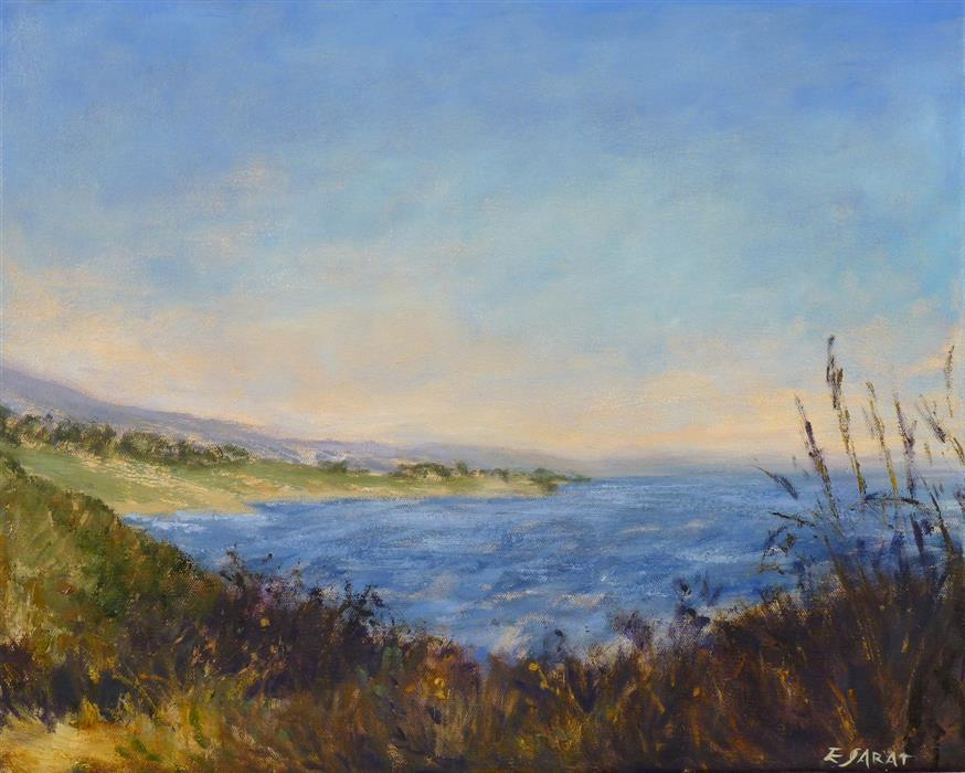Discover Original Art by Elizabeth Garat | Ocean Cliffs No. 5 oil painting | Art for Sale Online at UGallery