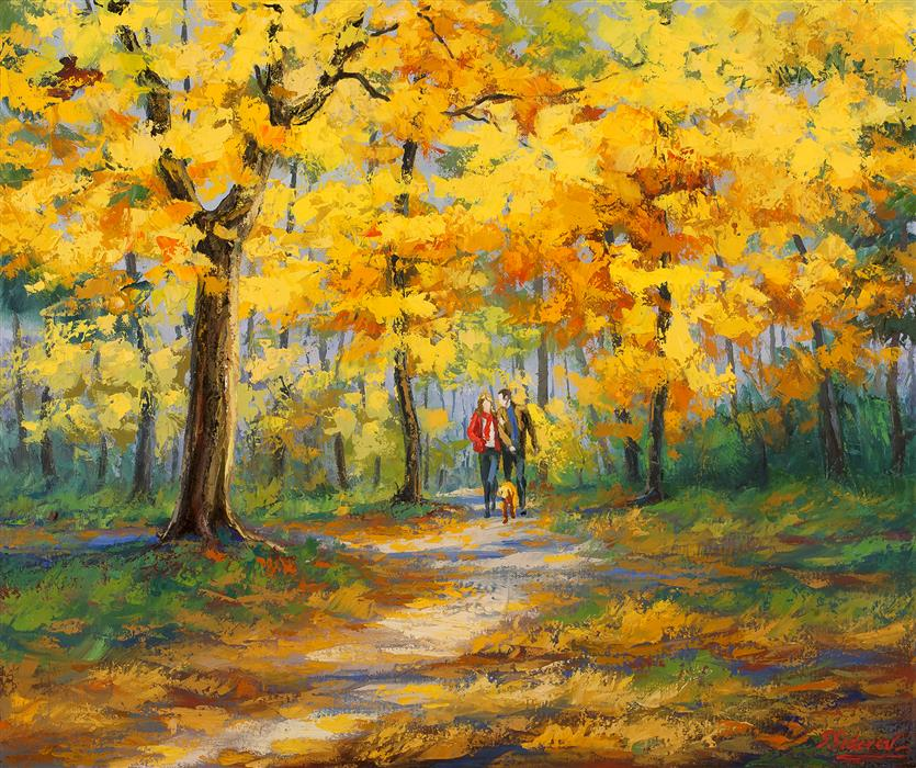 Discover Original Art by Stanislav Sidorov | Autumn Pass 2 oil painting | Art for Sale Online at UGallery