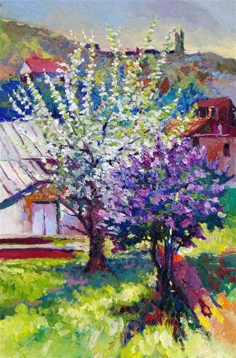 Discover Original Art by Suren Nersisyan | Spring Blossom oil painting | Art for Sale Online at UGallery