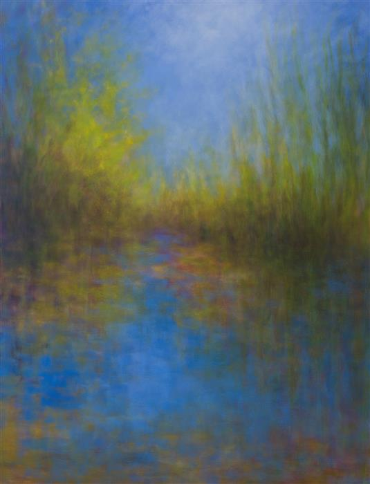 Discover Original Art by Victoria Veedell | Summer Pond - Chalk Hill oil painting | Art for Sale Online at UGallery