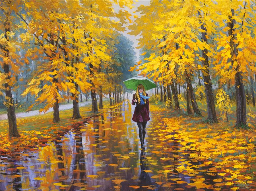 Discover Original Art by Stanislav Sidorov | Autumn Mood oil painting | Art for Sale Online at UGallery