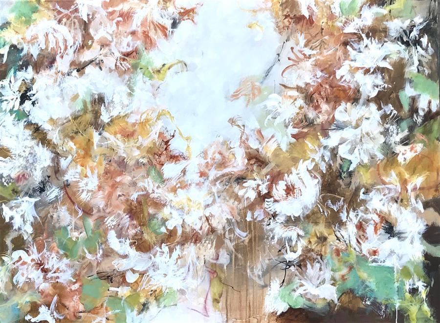 Discover Original Art by DL Watson | Amber Garden acrylic painting | Art for Sale Online at UGallery