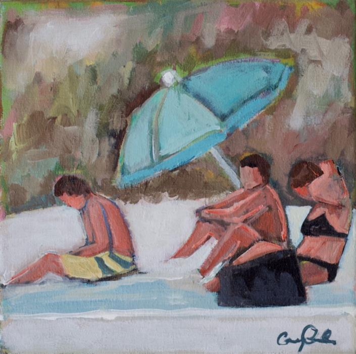 Discover Original Art by Carey Parks | Friends at the Beach acrylic painting | Art for Sale Online at UGallery