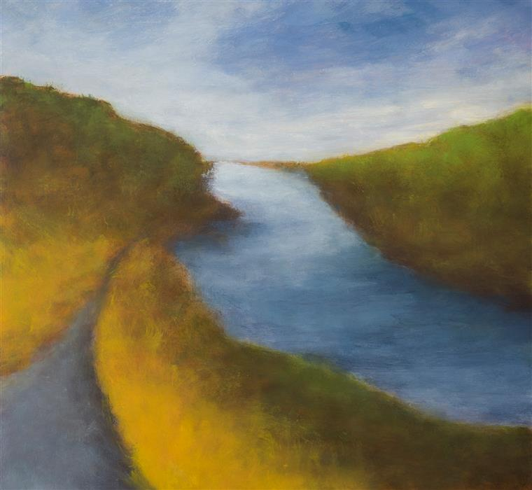 Discover Original Art by Victoria Veedell | Upstream in Iceland oil painting | Art for Sale Online at UGallery