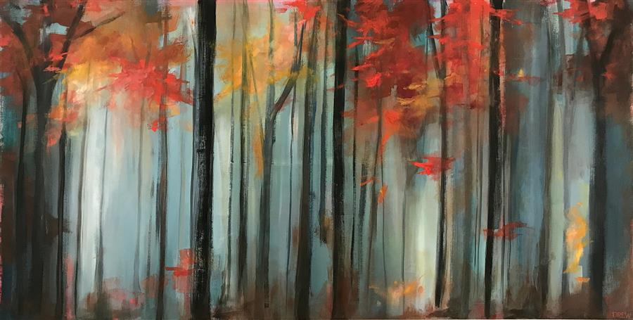 Discover Original Art by Drew Noel Marin | Into The Woods acrylic painting | Art for Sale Online at UGallery