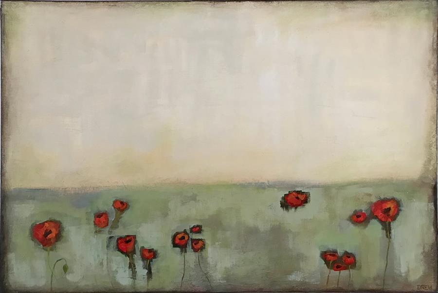 Discover Original Art by Drew Noel Marin | Pretty Poppies acrylic painting | Art for Sale Online at UGallery
