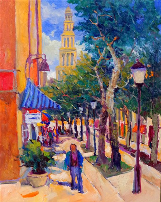 Discover Original Art by Suren Nersisyan | Street in Alexandria, Virginia oil painting | Art for Sale Online at UGallery