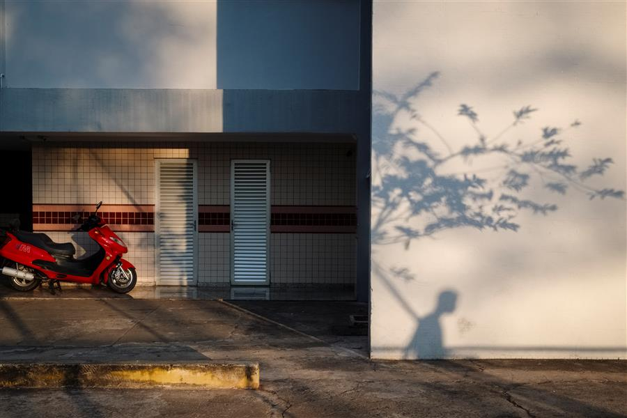 Original art for sale at UGallery.com | Bike and Shadow by GUSTAVO MINAS | $320 |  | ' h x ' w | \art\photography-Bike-and-Shadow
