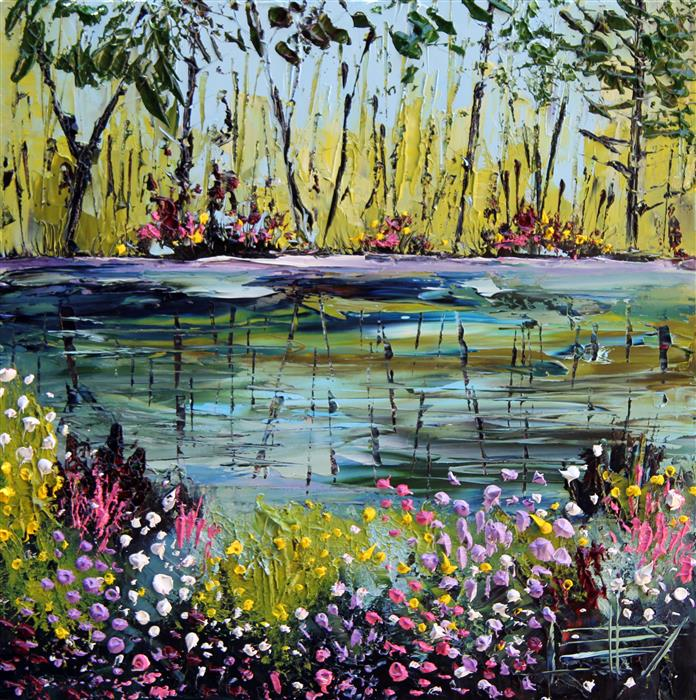 Discover Original Art by Lisa Elley | The Bliss of Monet oil painting | Art for Sale Online at UGallery