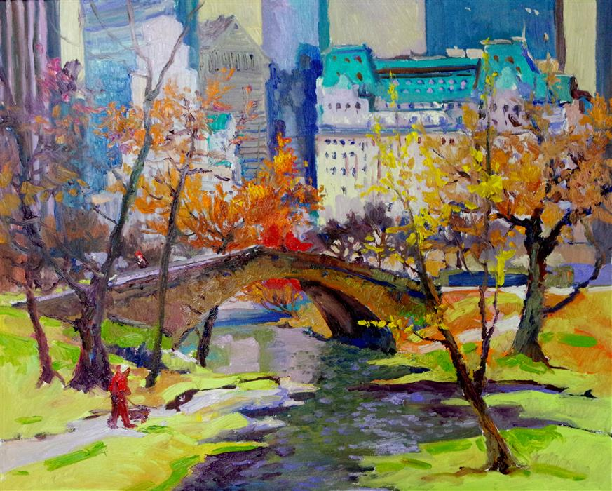 Discover Original Art by Suren Nersisyan | Fall in New York,  Central Park oil painting | Art for Sale Online at UGallery
