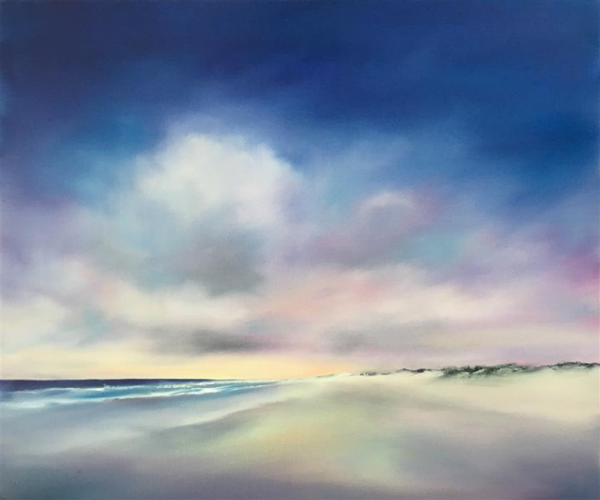 Discover Original Art by Nancy Hughes Miller | Beckoning Beach oil painting | Art for Sale Online at UGallery