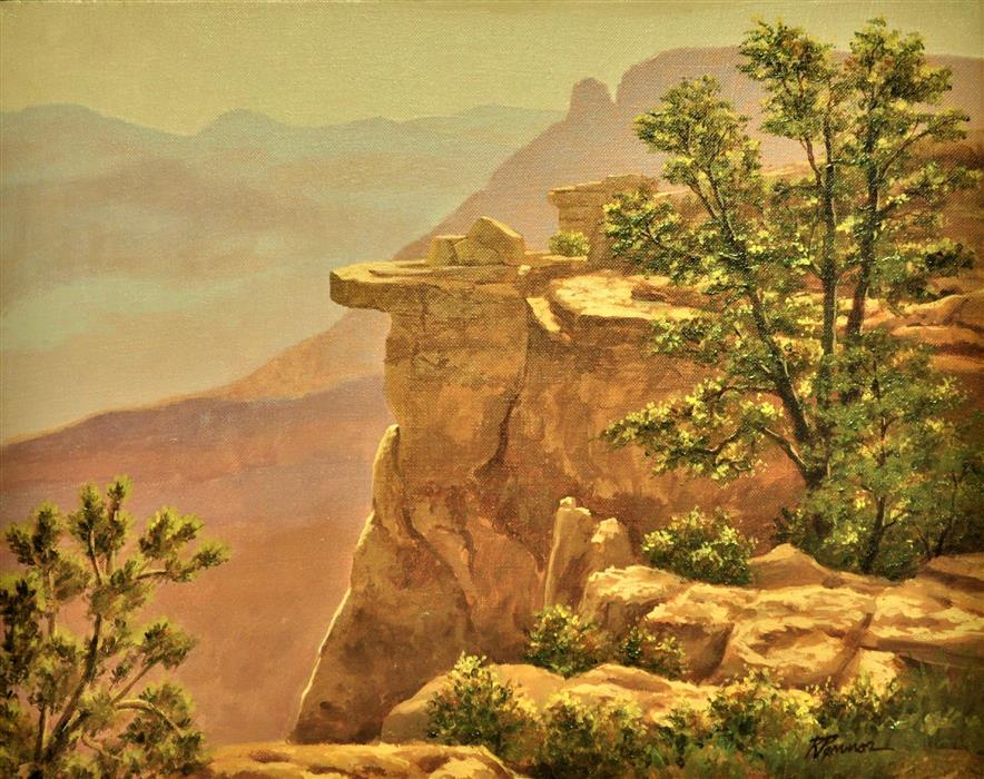 Discover Original Art by Robert Pennor | South Rim View, Grand Canyon acrylic painting | Art for Sale Online at UGallery
