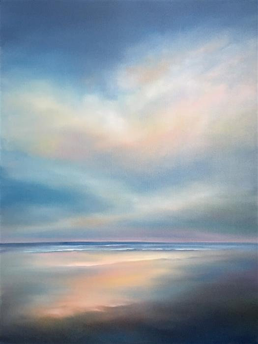 Discover Original Art by Nancy Hughes Miller | Beach Morning oil painting | Art for Sale Online at UGallery