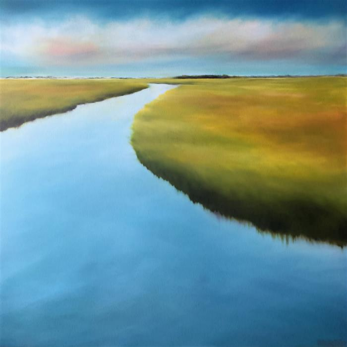Discover Original Art by Nancy Hughes Miller | Marsh Meander oil painting | Art for Sale Online at UGallery