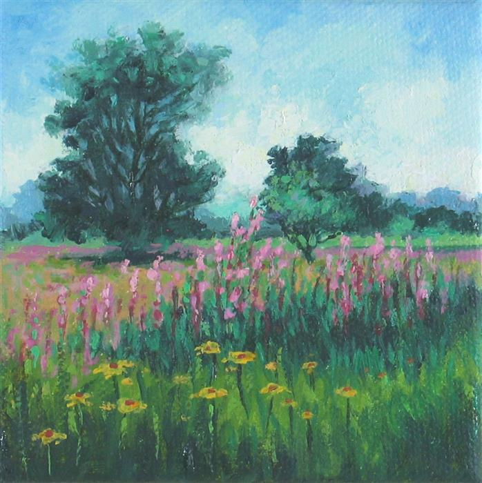 Discover Original Art by Suzanne Massion | Blazing Star Prairie oil painting | Art for Sale Online at UGallery