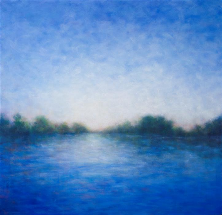 Discover Original Art by Victoria Veedell | Rogue River Reflections oil painting | Art for Sale Online at UGallery