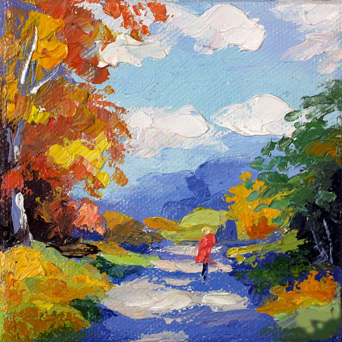 Discover Original Art by Stanislav Sidorov | Autumn Day oil painting | Art for Sale Online at UGallery