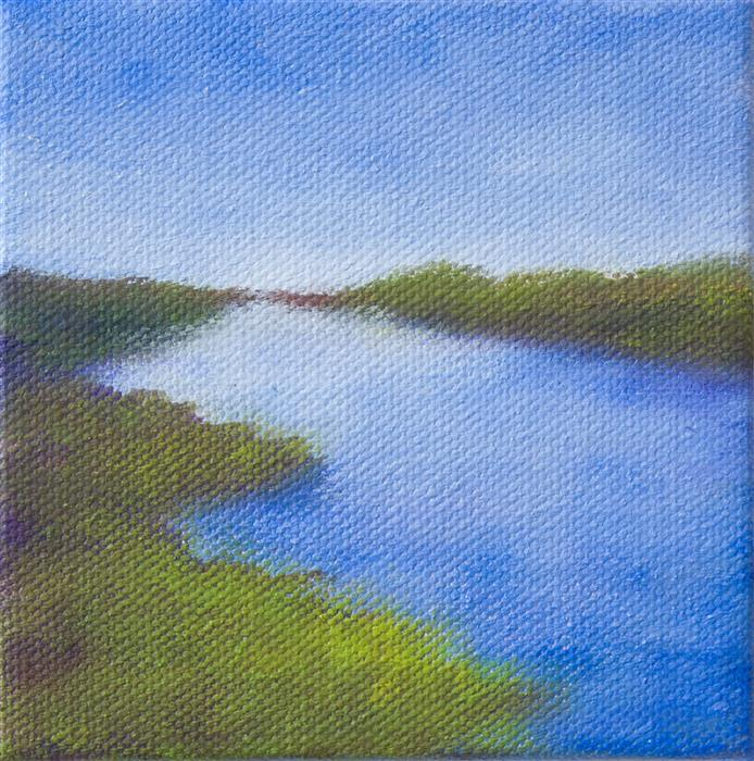 Discover Original Art by Victoria Veedell | At Elkhorn Slough oil painting | Art for Sale Online at UGallery