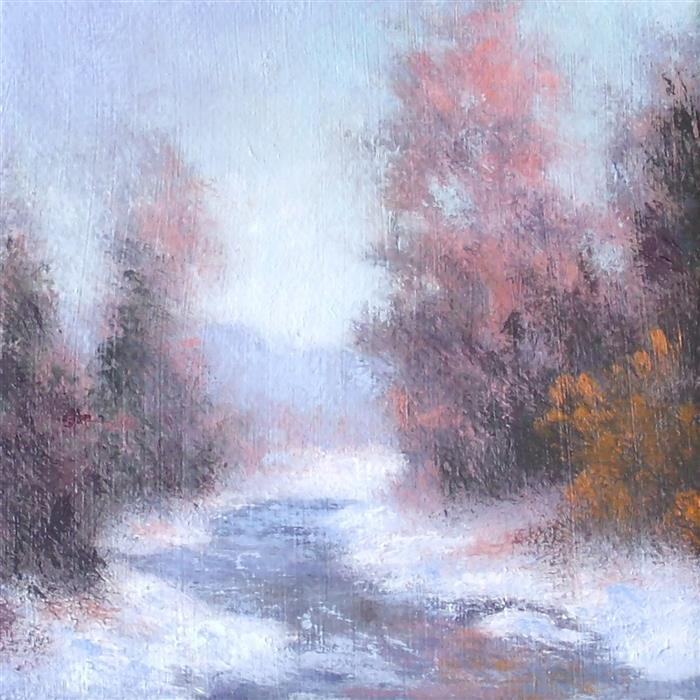 Discover Original Art by Gail Greene | Winter Palette oil painting | Art for Sale Online at UGallery