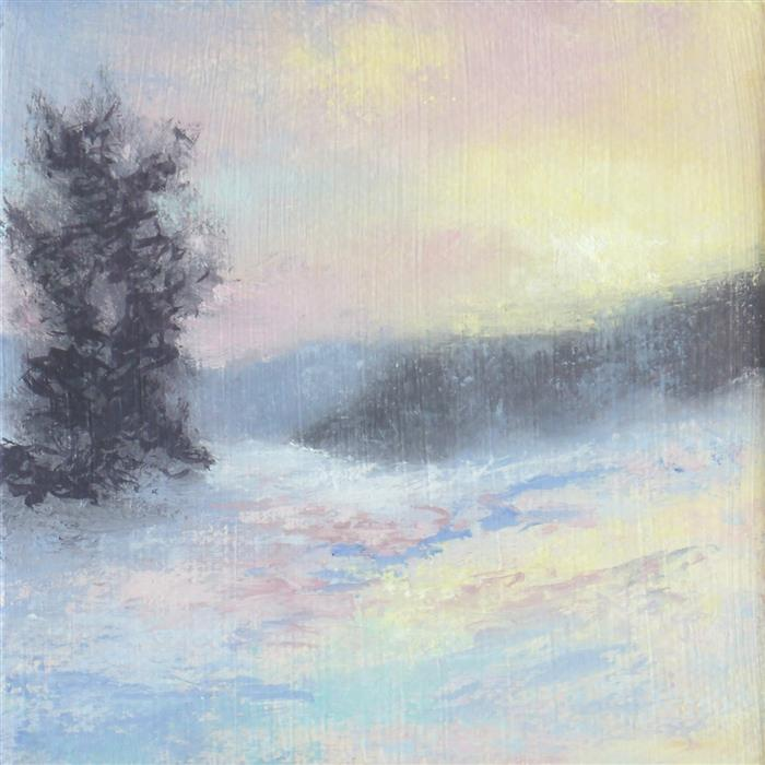 Discover Original Art by Gail Greene | Warm Winter Fun oil painting | Art for Sale Online at UGallery