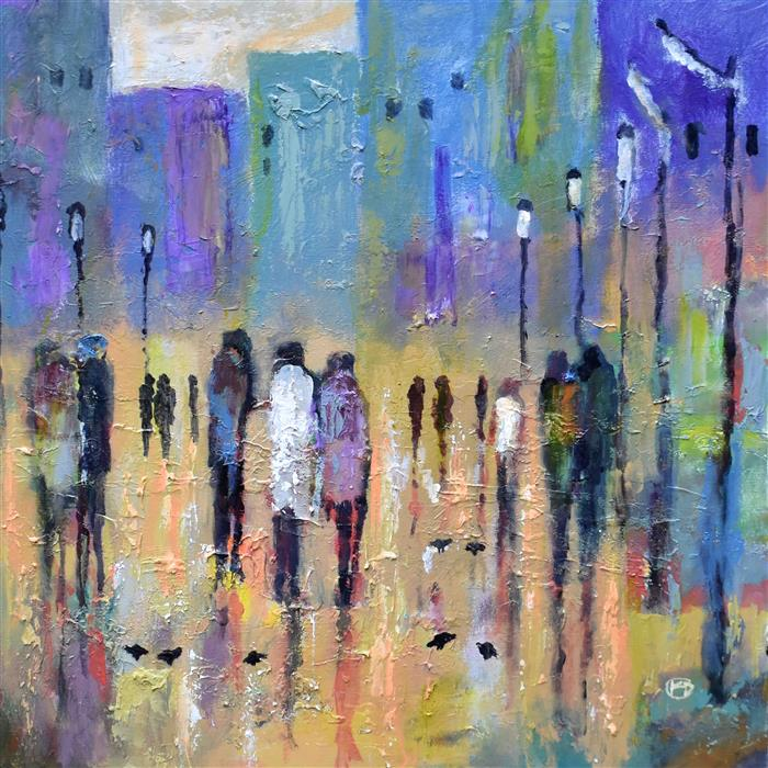 Discover Original Art by Kip Decker | Uptown After 7 acrylic painting | Art for Sale Online at UGallery