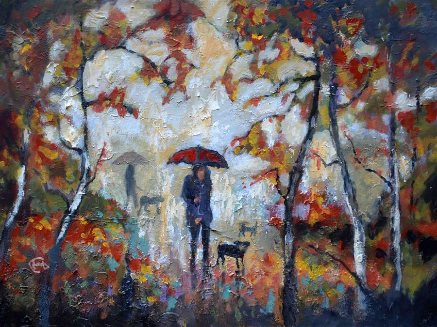 Discover Original Art by Kip Decker | A Kiss In The Park acrylic painting | Art for Sale Online at UGallery