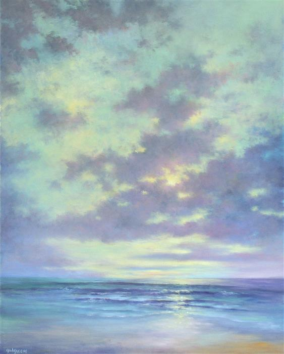 Discover Original Art by Gail Greene | Break in the Clouds oil painting | Art for Sale Online at UGallery