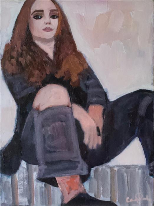 Discover Original Art by Carey Parks | A Relaxed Pose acrylic painting | Art for Sale Online at UGallery