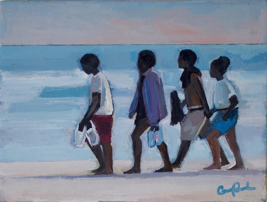 Discover Original Art by Carey Parks | Going for a Stroll acrylic painting | Art for Sale Online at UGallery