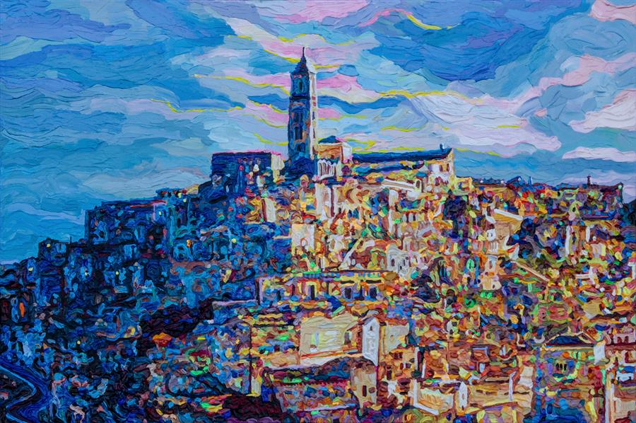 Discover Original Art by Seth Couture | Cattedrale di Maria Santissima della Bruna acrylic painting | Art for Sale Online at UGallery