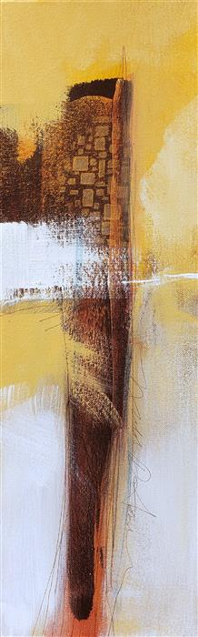 Discover Original Art by Nicholas Foschi | Golden Cliffs 4 acrylic painting | Art for Sale Online at UGallery