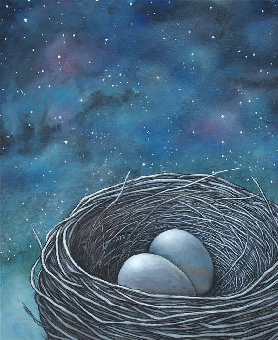 Discover Original Art by Jennifer Ross | Whatever Causes Night In Our Souls May Leave Stars oil painting | Art for Sale Online at UGallery