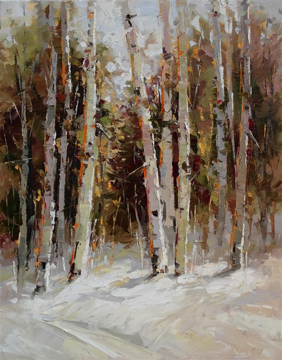 Discover Original Art by Tricia May | Winter Beauty oil painting | Art for Sale Online at UGallery