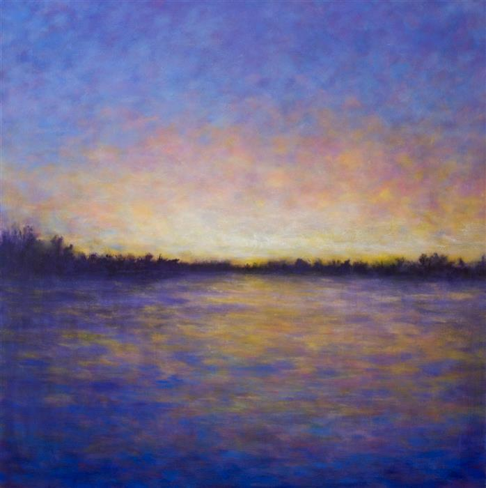 Discover Original Art by Victoria Veedell | Last Light of May oil painting | Art for Sale Online at UGallery
