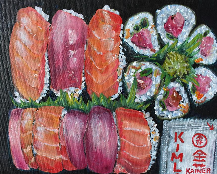 Discover Original Art by Kristine Kainer | Sushi I oil painting | Art for Sale Online at UGallery