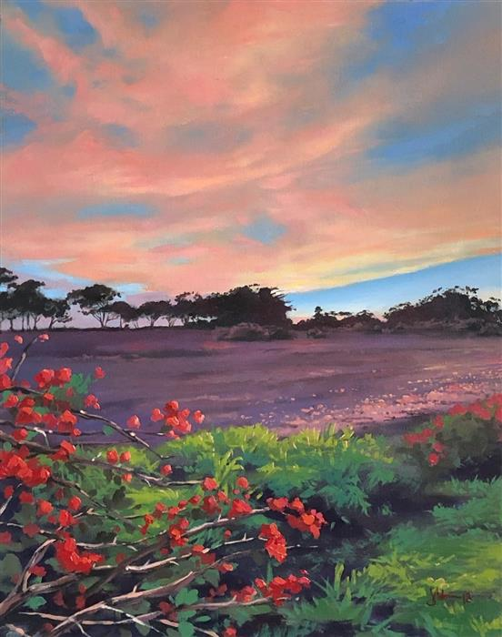Discover Original Art by Jesse Aldana | Bougainvillea oil painting | Art for Sale Online at UGallery