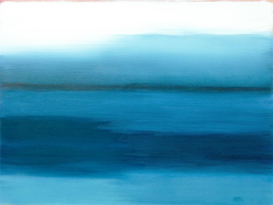 Discover Original Art by Heidi Hybl | Night Sea oil painting | Art for Sale Online at UGallery