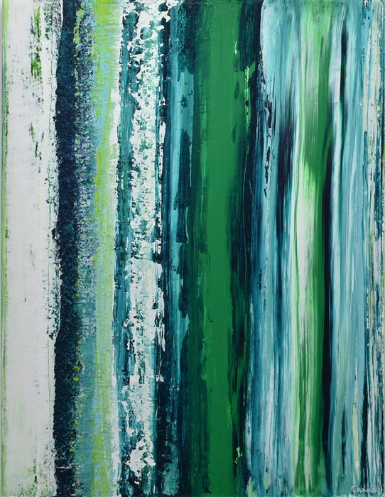 Discover Original Art by Lisa Carney | Strata Verde acrylic painting | Art for Sale Online at UGallery
