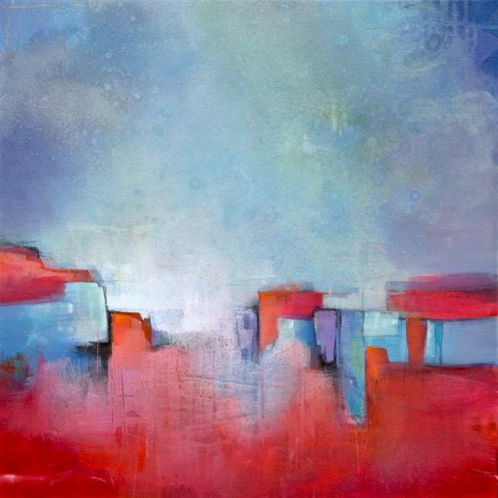 Discover Original Art by Karen Hale | Midtown acrylic painting | Art for Sale Online at UGallery