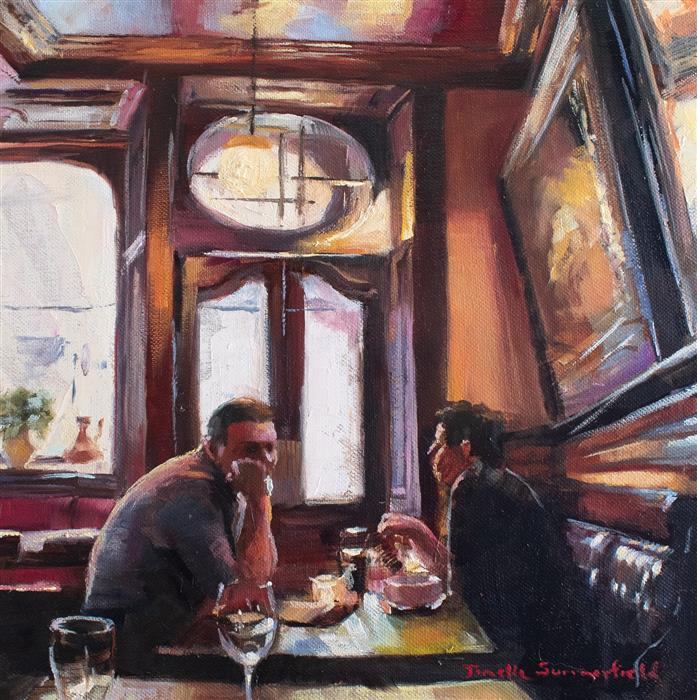 Discover Original Art by Jonelle Summerfield | Scottish Pub oil painting | Art for Sale Online at UGallery