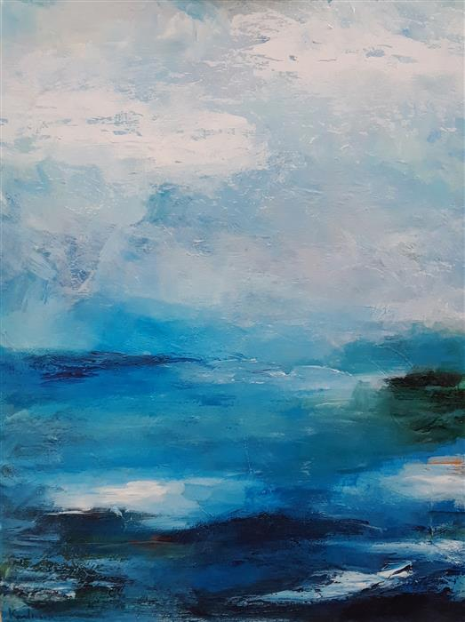 Discover Original Art by Hilma Koelman | Distances acrylic painting | Art for Sale Online at UGallery