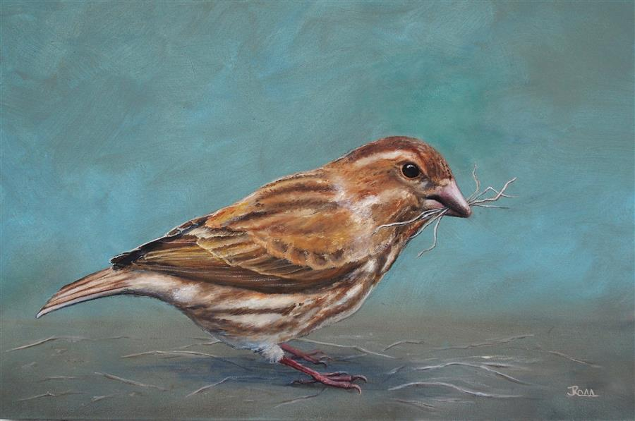 Discover Original Art by Jennifer Ross | Let Me Build My Nest oil painting | Art for Sale Online at UGallery