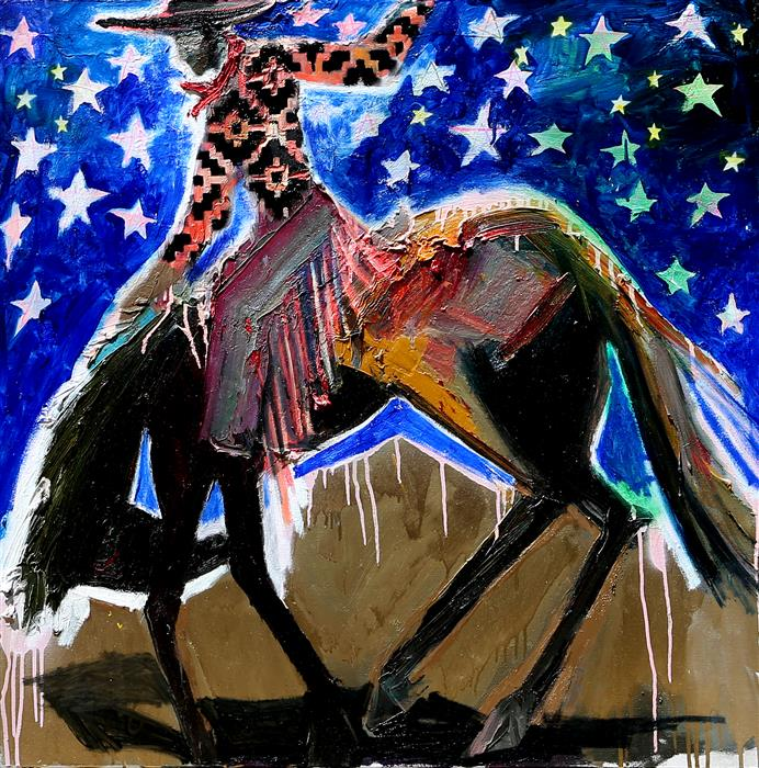 Discover Original Art by Scott Dykema | Bucking Around mixed media artwork | Art for Sale Online at UGallery