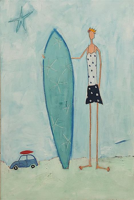 Discover Original Art by Rick Hamilton | Surfing Champion 2019 acrylic painting | Art for Sale Online at UGallery