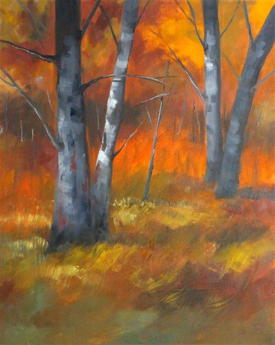 Discover Original Art by Nancy Merkle | Colorful Forest oil painting | Art for Sale Online at UGallery