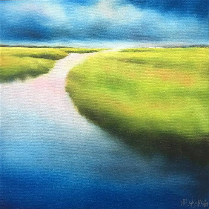 Discover Original Art by Nancy Hughes Miller | Marsh Meditation II oil painting | Art for Sale Online at UGallery